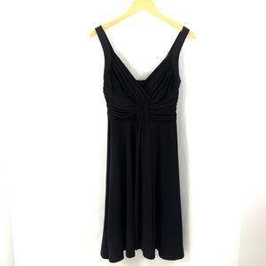 WHITE HOUSE BLACK MARKET Black Sleeveless Dress N3